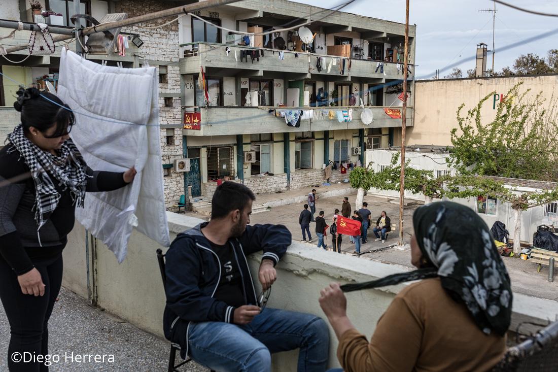 Galeria campo de refugiados de Lavrio (Grecia)