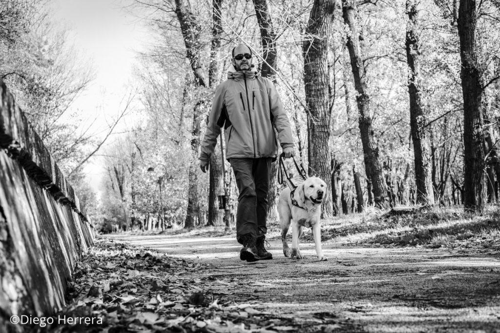 Roberto camina por el paseo de Fuentes Blancas / Diego Herrera