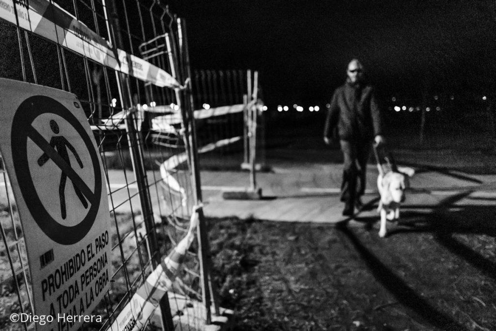 Obras en el paseo de Fuentes Blancas / Diego Herrera
